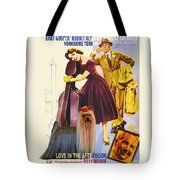 Yorkshire Terrier Art Canvas Print - Love In The Afternoon Movie Poster Tote Bag
