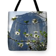 Yosemite Dogwood And Half Dome Tote Bag