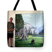 Yosemite Dreams Mural On Doors Tote Bag