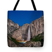 Yosemite Falls Moonbow Tote Bag