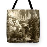Yosemite Falls Sepia Tote Bag