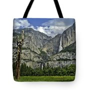 Yosemite Upper And Lower Falls Tote Bag