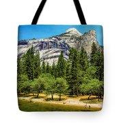 Yosemite Valley Along Yosemite River Beach Tote Bag