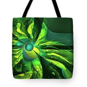 You Are Here --  Events Conspire -- Green Tote Bag