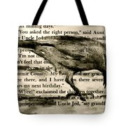 You Asked The Right Person Tote Bag