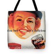 You Bet It's Delicious - Coca Cola Tote Bag by Georgia Fowler
