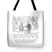 You Can Eat The One Marshmallow Right Now Tote Bag by Paul Noth