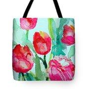You Enlighten Me- Painting Of Tulips Tote Bag