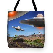 You Never Know What You Will See On Route 66 2 Tote Bag by Mike McGlothlen