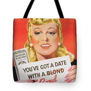 You Ve Got A Date With A Bond Poster Advertising Victory Bonds  Tote Bag