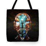 Young Alien Warrior Tote Bag