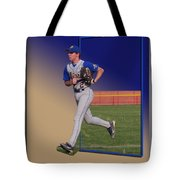 Young Baseball Athlete Tote Bag