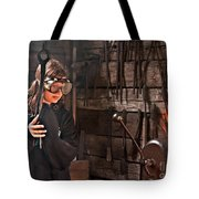 Young Blacksmith Girl Art Prints Tote Bag