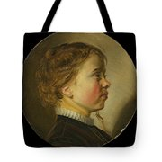 Young Boy In Profile  Tote Bag