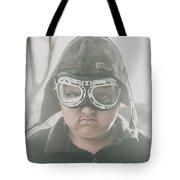 Young Boy Pilot. Battle Ready Tote Bag