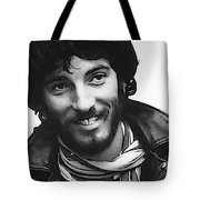 Young Bruce Springsteen Tote Bag