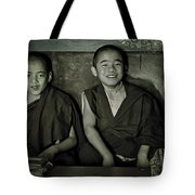 Young Buddhist Monks Tote Bag