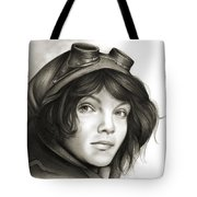 Young Catwoman Tote Bag