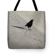 Young Cawing Crow Tote Bag