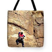 Young Climber In Joshua Tree Np-ca- Tote Bag