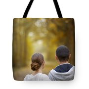 Young Couple Looking Ahead Tote Bag