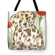 Young Cub Leopard Tote Bag