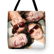 Young Friends Together Tote Bag