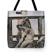 Young Gallery Visitor Tote Bag