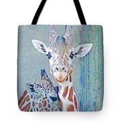 Young Giraffes Tote Bag