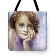Young Girl Child Watercolor Portrait  Tote Bag by Svetlana Novikova