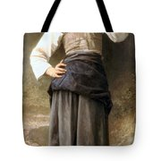Young Girl Going To The Fountain Tote Bag