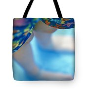 Young Girl Standing In Pool Tote Bag