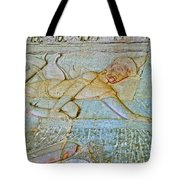 Young God-figure On Wall In Angkor Wat In Angkor Wat Archeological Park Near Siem Reap-cambodia Tote Bag