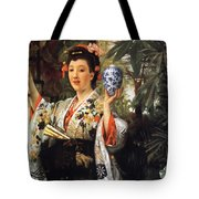 Young Japanese Lady Tote Bag