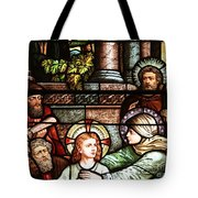 Young Jesus In The Temple Tote Bag