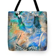 young lady in Papeete Tote Bag
