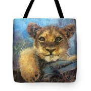 Young Lion Tote Bag