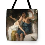 Young Lovers Mocking Pan Tote Bag