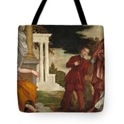 Young Man Between Vice And Virtue Tote Bag