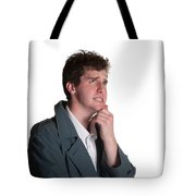 Young Man In Trench Coat Tote Bag