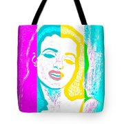 Young Marilyn Soft Pastels Impression Tote Bag