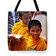Young Monks Tote Bag