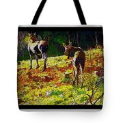 Young Moose In Autumn Tote Bag