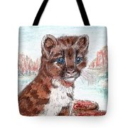 Young Mountain Lion Tote Bag