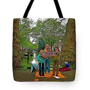Young Musicians On Orange Day By A Canal In Enkhuizen-netherland Tote Bag