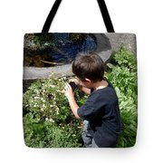 Young Photographer Tote Bag