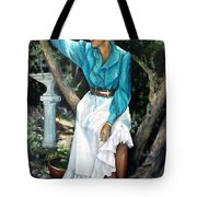 Young Self Portrait Tote Bag