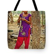 Young Tharu Village Woman In Traditional Nepali Clothing-nepal  Tote Bag