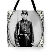 Young Union Soldier Tote Bag
