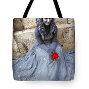 Young Woman Busker In Syracusa Sicily Tote Bag